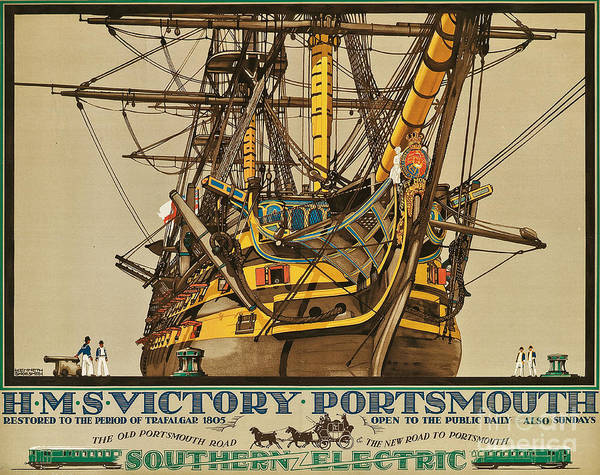 Rail Painting - Poster Advertising Southern Electric Railways by Kenneth Shoesmith