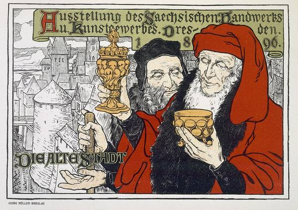 Goblets Wall Art - Drawing - Poster Advertising The Arts And Crafts by Georg Muller-Breslau