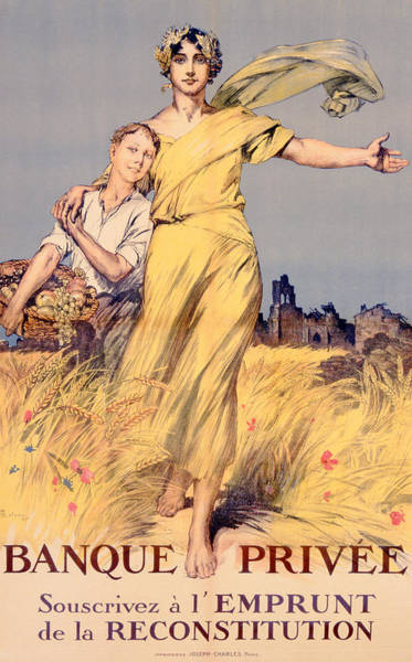 Vintage Painting - Poster Advertising The National Loan by Rene Lelong