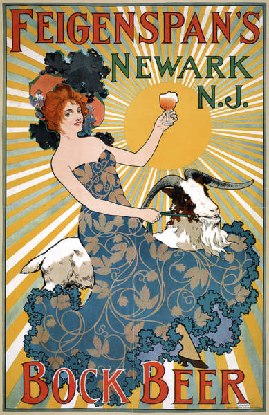 Wall Art - Drawing - Poster Beer, C1890 by Granger