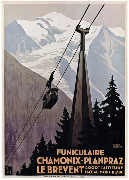 Wall Art - Drawing - Poster Cable Car, C1920 by Granger