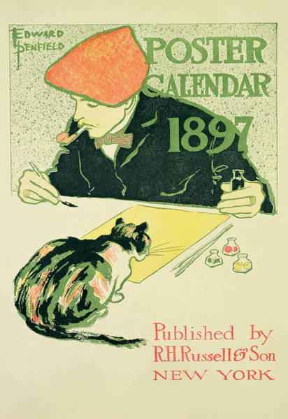 Beret Photograph - Poster Calendar, Pub. By R.h. Russell & Son, 1897 Colour Litho by Edward Penfield