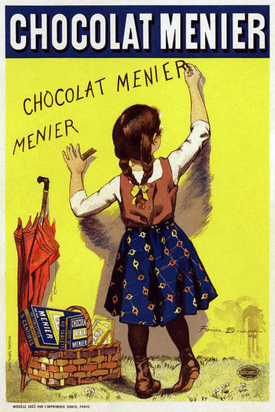 Wall Art - Drawing - Poster Chocolate, 1893 by Granger