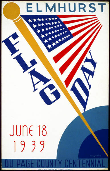 Wall Art - Painting - Poster Flag Day, 1939 by Granger