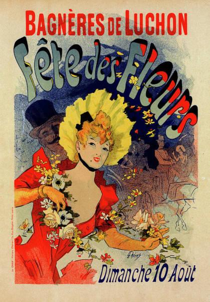 Wall Art - Painting - Poster For Fête Des Fleurs De Bagnères-de-luchon by Liszt Collection