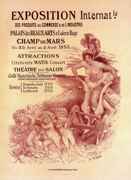 Wall Art - Painting - Poster For  L Exposition Internationale Des Produits Du by Liszt Collection