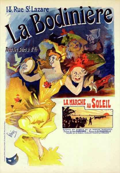 Wall Art - Painting - Poster For La Bodinière. Chéret, Jules 1836-1932 by Liszt Collection