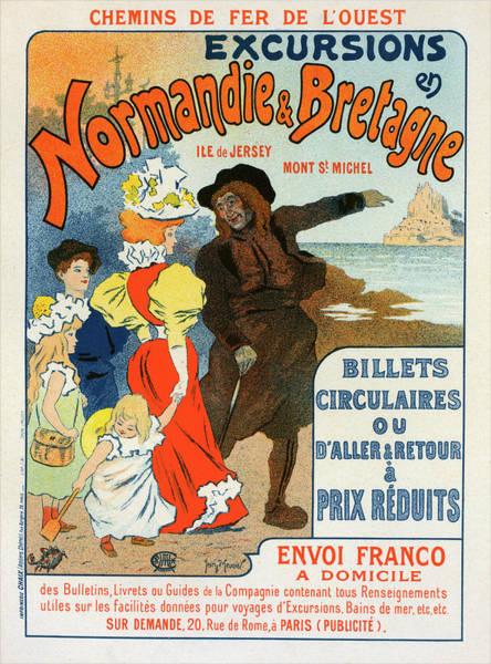 Wall Art - Drawing - Poster For La Compagnie Des Chemins De Fer De Louest by Liszt Collection