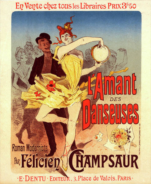 Wall Art - Painting - Poster For Lamant Des Danseuses, The Lovers Of Dancers by Liszt Collection