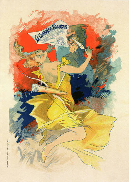 Wall Art - Painting - Poster For Le Journal Le Courrier Français by Liszt Collection