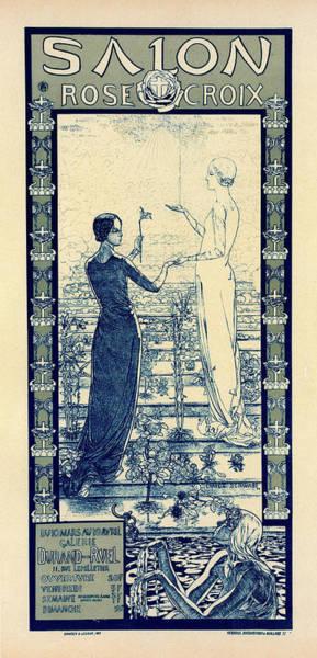 Wall Art - Drawing - Poster For Le Salon De La Rose Croix by Liszt Collection
