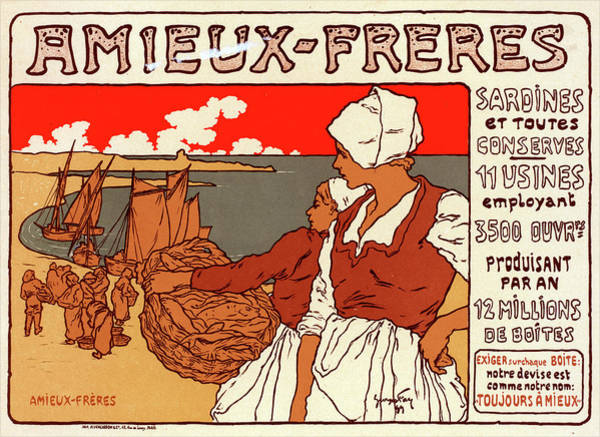 Wall Art - Painting - Poster For Les Sardines Amieux. Georges Fay by Liszt Collection