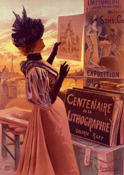 Wall Art - Drawing - Poster For Lexposition Du Centenaire De La Lithographie by Liszt Collection