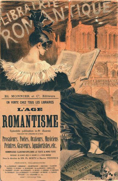 Notre Dame Drawing - Poster For Librairie Romantique. Promoting The Book Lage Du by Liszt Collection