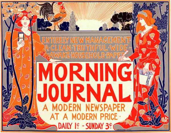 Wall Art - Drawing - Poster For Morning Journal by Liszt Collection