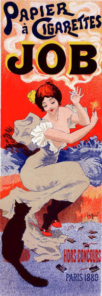 Influence Drawing - Poster For Papier à Cigarettes Job. Georges Meunier by Liszt Collection