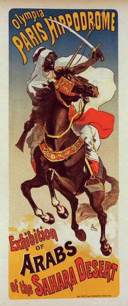 Wall Art - Painting - Poster For Paris-hippodrome  Exhibition Darabes Du Sahara by Liszt Collection