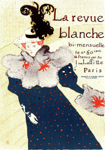 Wall Art - Painting - Poster For Revue Blanche. Toulouse-lautrec by Liszt Collection