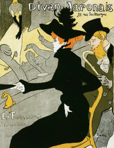 Wall Art - Painting - Poster For The Concert Divan Japonais. Toulouse-lautrec by Liszt Collection