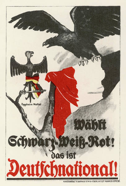 1924 Drawing - Poster For The  Deutschnational Party by Mary Evans Picture Library