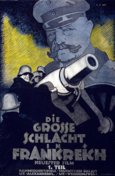 Propaganda Drawing - Poster For The Film The Great Battle by Hans Rudi Erdt