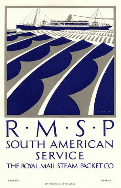 1924 Drawing - Poster For The South American  Service by Mary Evans Picture Library
