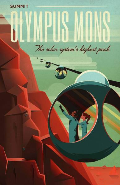 Promotion Photograph - Poster For Tours Of Olympus Mons by Nasa/science Photo Library