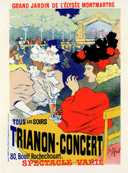 Influence Drawing - Poster For Trianon-concert. Georges Meunier by Liszt Collection