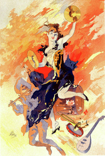 Wall Art - Painting - Poster La Musique, The Music. Chéret, Jules 1836-1932 by Liszt Collection