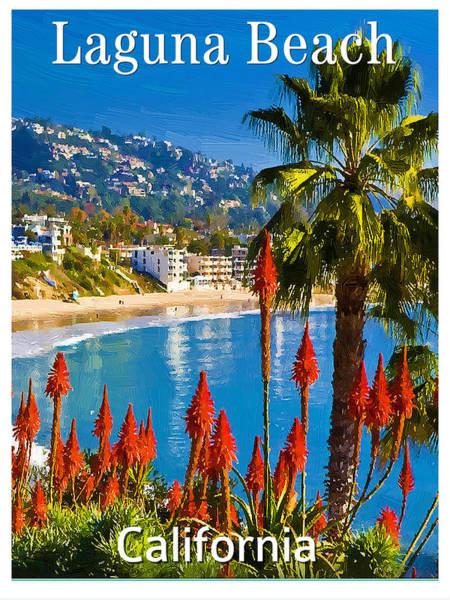 Laguna Beach Mixed Media - Poster Of Laguna Beach by Bob Sandler