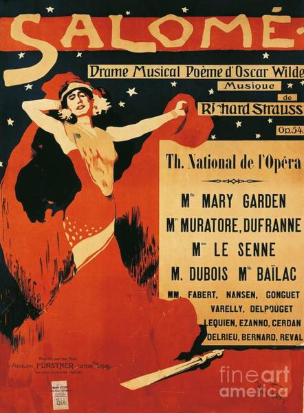 Wall Art - Drawing - Poster Of Opera Salome by Richard Strauss