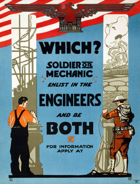 Wall Art - Painting - Poster Recruitment, 1919 by Granger
