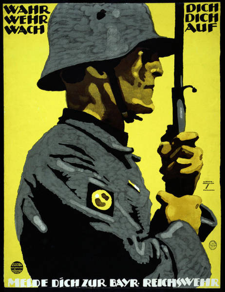 Recruitment Painting - Poster Reichswehr, C1919 by Granger