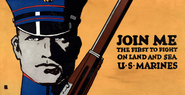 Recruitment Painting - Poster U by Granger