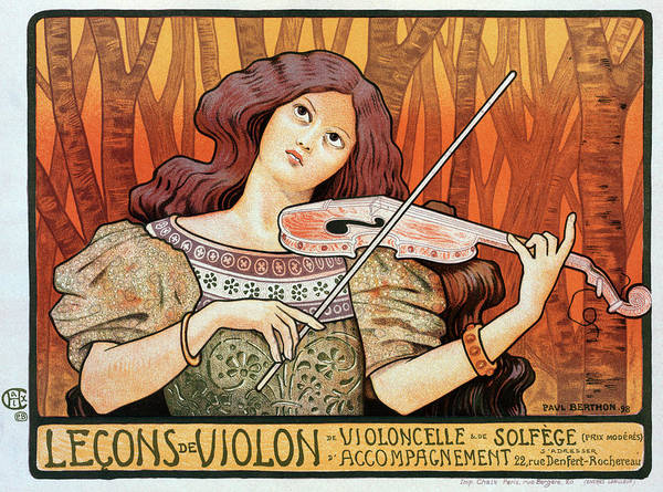 Wall Art - Drawing - Poster Violin, 1898 by Granger