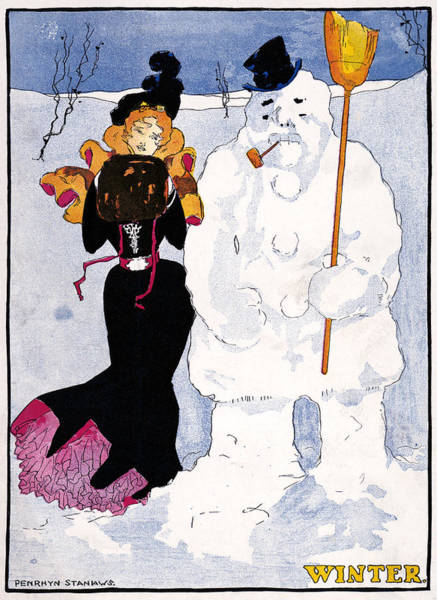 Wall Art - Drawing - Poster Winter, 1907 by Granger