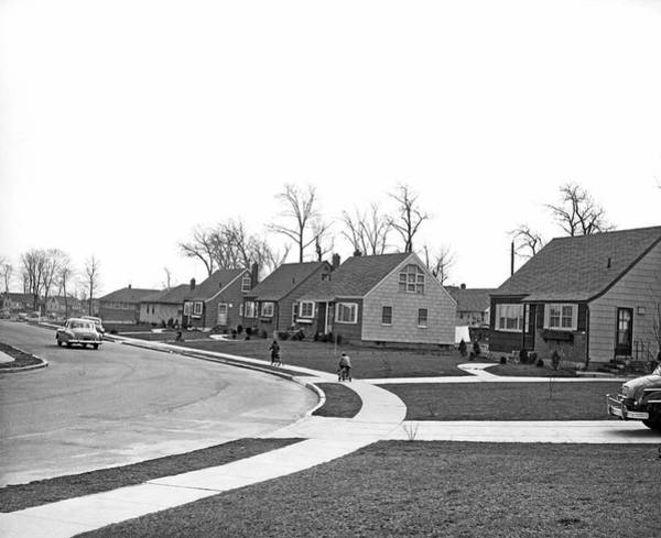 Housing Development Photograph - Postwar Housing Development by Underwood Archives