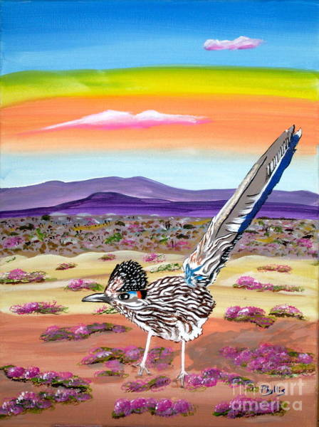 Roadrunner Painting - Posy The Roadrunner by Phyllis Kaltenbach
