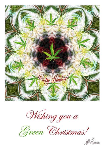 Digital Art - Pot Leaf Mandala by Diana Haronis