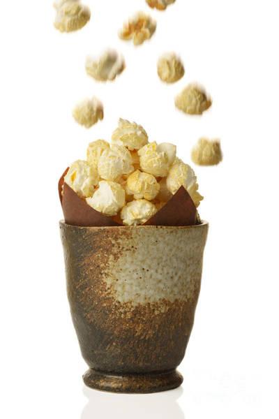 Popcorn Photograph - Pot Of Popcorn by Amanda Elwell