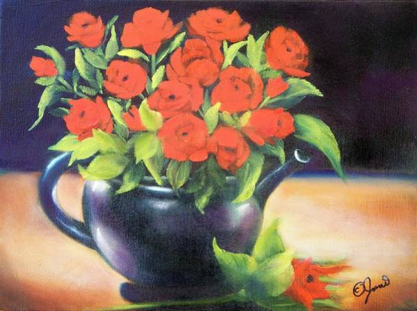 Painting - Pot Of Roses by Joni McPherson