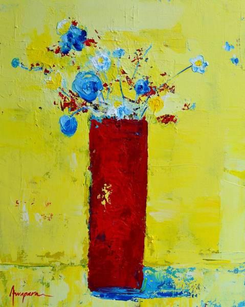Painting - Pot Of Wild Flowers by Patricia Awapara