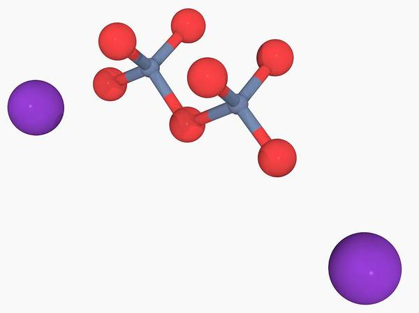 Compound Photograph - Potassium Dichromate Molecule by Laguna Design/science Photo Library