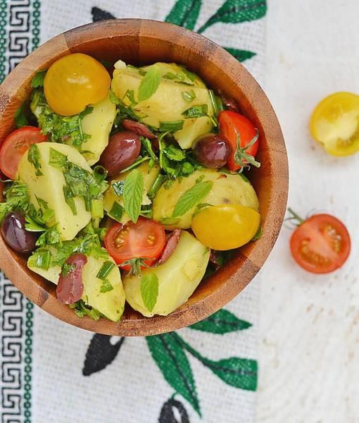 Napkin Photograph - Potato Salad by Zoryana Ivchenko