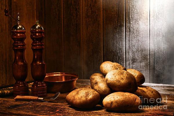 Wood Pile Photograph - Potatoes by Olivier Le Queinec