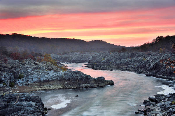 Wall Art - Photograph - Potomac River Sunrise At Great Falls Park by Brendan Reals