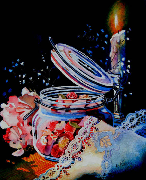 Doily Painting - Potpourri And Lace by Hanne Lore Koehler
