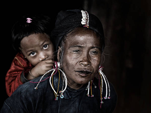 Mother Photograph - Potrait Myanmar by Amnon Eichelberg