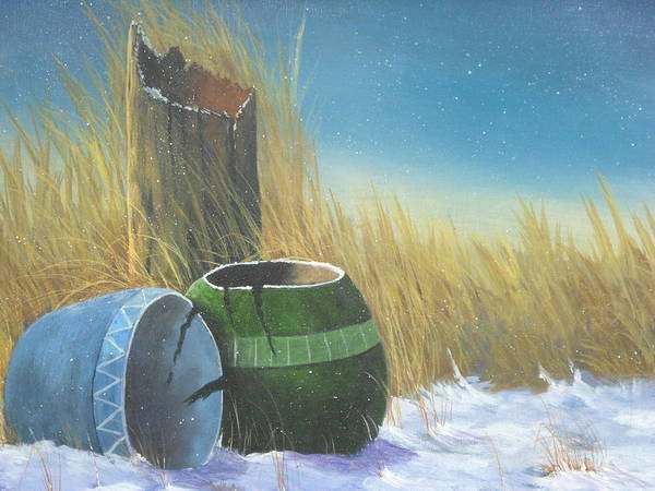Fencepost Painting - Pots by Frank Cochran