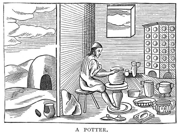 Potters Wheel Wall Art - Drawing - Potter, 1659 by Granger
